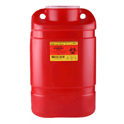 BD Sharps Collector, 5 Gallon with Large Funnel, Red