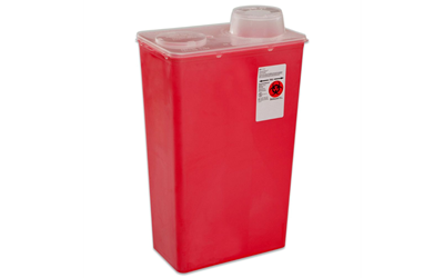 Sharps-A-Gator™ Sharps Container, Chimney Top, Red, 14 Quart
