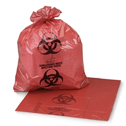 Medegen Sure-Seal Infectious Waste Bags, 8-10 gal, 150/cs