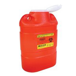 Sharps Container, Funnel Lid, Red 8.2 Quart