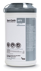 Sani Cloth Gray Top AF3 Germicidal Disposable Wipes, X-Large 65/canister