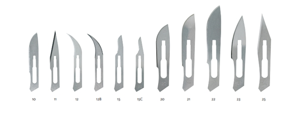 Miltex Stainless Steel Sterile Surgical Blades, 100/bx